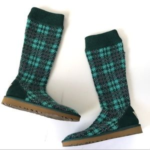 Ugg Sweater Jester Plaid Sock Boots